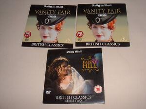VANITY FAIR parts 1 & 2, + FANNY HILL 2 x COSTUME DRAMA promo DVDs temptresses