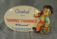 Original Vintage Hummel Goebel Advertising Sign / Plaque - Merry Wanderer