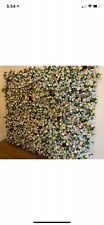 Flower Wall - Flowers (over 1800) Artifical Peony Rose & Panels 60cm x 40cm (20)