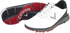 NEW! Callaway [11] Medium Balboa Vent Men's Golf Shoes CG107WT, White/Black