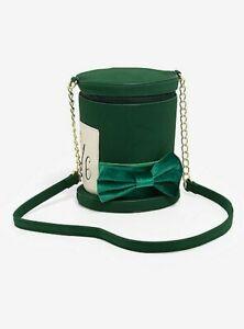 Bioworld Disney Alice in Wonderland Mad Hatter Hat Purse Bag Green NWT