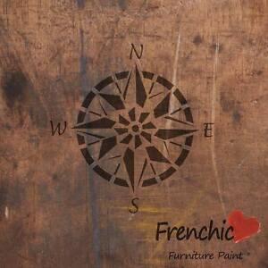 Compass Stencil Point Tattoo Frenchic Chalk & Mineral Furniture Paint A4 WallArt