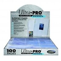 TRADING CARD A4 SLEEVES ULTRA PRO SILVER SERIES 9 POCKET PAGES CHOOSE QUANTITY!