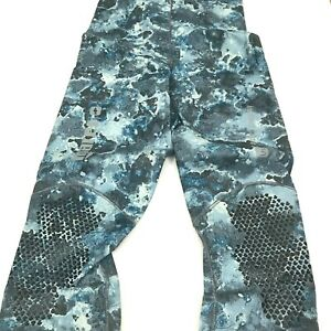 Mares Pure Instinct 3mm Spearfishing Freediving Wetsuit Pants Blue Camo S2 Small
