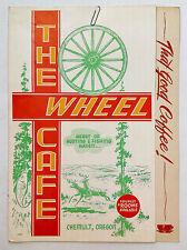 1950s Vintage Breakfast Menu The Wheel Cafe Chemult Oregon Now KJ's Cafe