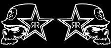 "METAL MULISHA ROCK STAR^, Car Decal Sticker, WHITE, 2PCS, 7.25"" x 5.5"""