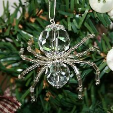 The Legend of the Christmas Spider Bead Ornament   Crystal Silver
