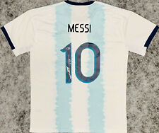 NEW Lionel Leo Messi Signed Argentina Soccer Jersey Autographed Beckett BAS COA
