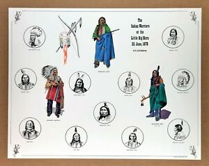 """LITTLE BIG HORN"" (1981) *INDIAN WARS* Museum Poster NATIVE WARRIORS Crazy Horse"
