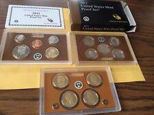 Contains 3 sets .25 set /& $1 set Clad 14 coin Proof Set 2011-s U.S Proof set