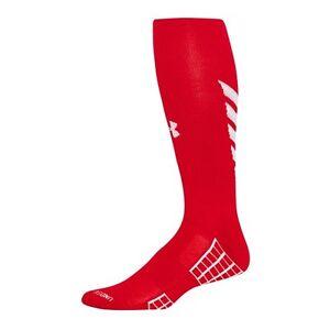 Under Armour UA Striker Men's OTC Soccer Socks U447-Red Size L (9-12.5) MSRP $18