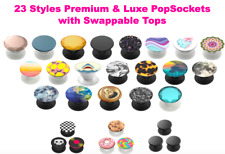 New PopSockets PopGrip & Stand Swappable Universal Phone Holder Luxe Premium
