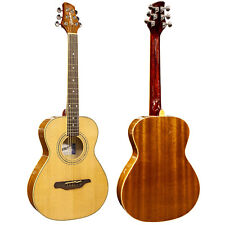 Guvnor Acoustic Guitar Parlor Style GA503 Steel Strings 3/4 Size Short Scale c