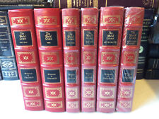 The World Crisis by Winston Churchill - 6 volumes - Easton Press leather-bounds