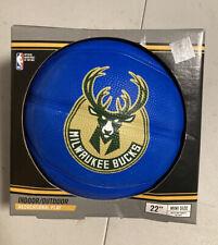 New listing NBA Milwaukee Bucks spalding mini rubber basketball blue color size 3