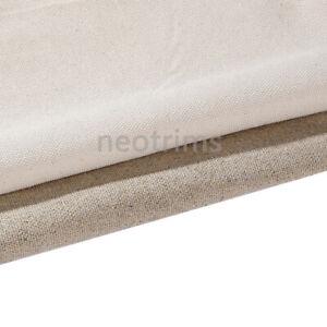Tissu d'ameublement 100% coton et toile de lin.Matériau naturel épais 160 cm