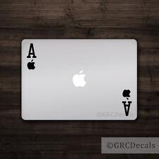 Apple Ace -- Mac Apple Logo Cover Laptop Vinyl Sticker MacBook Decal Card Suit