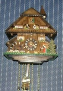 Black Forest 8 day Musical Animated Cuckoo Clock - Bell Ringer Dancers Windmill
