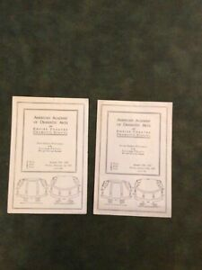 Two 1929 American Academy of Dramatic Arts Lyceum Theatre N.Y. Playbills