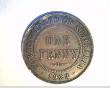 1922 Austrailia One Penny, High Grade Bronze (Aus-73)