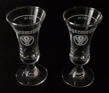 Jagermeister Stemmed Footed Clear Shot Cordial Glasses