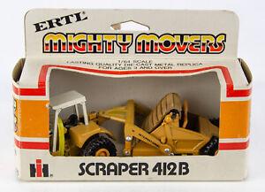 Vintage 1970s ERTL Mighty Movers 1855 International Harvester Scraper 412B 1:64