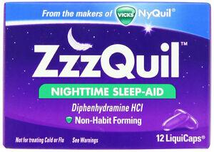 ZzzQuil Nighttime Sleep-Aid 12 Liquicaps