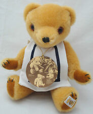 """Nisbet Young Bully Teddy Bear 11"""" LE Mohair Plush UK Foot Label Jointed Hang Tag"""