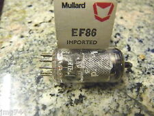 EF86 MULLARD MESH PLATE   NEW  OLD STOCK   VALVE TUBE O13