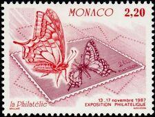 """MONACO N° 1586 """"EXPOSITION OETP, PAPILLON ET TIMBRE POSTE 2 F 20"""" xxTTB"""