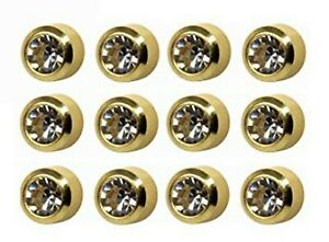 Caflon Surgical Regul 4mm Ear piercing Earrings studs 12 pair April Gold tone