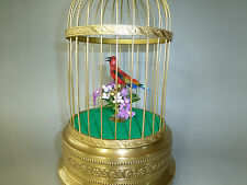Vintage German K.G. Singing Bird Cage Automaton Music Box ( Watch The Video)
