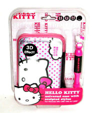 Hello Kitty Pouch Case w/ Stylus For Game Console Nintendo DSL DSi 3DS XL