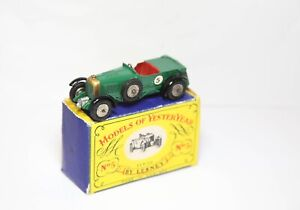 Matchbox Models Of Yesteryear No 5 1927 Le Mans Bentley In Its Original Box