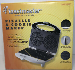 BRAND NEW Toastmaster Pizzelle & Cookie Maker Iron Griddle
