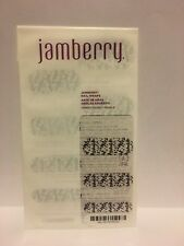 New JAMBERRY Nail Wraps INTO THE WILD Clear Black White Words RETIRED Full Sheet