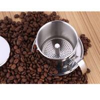 1pc Pot Stainless Metal Vietnam Coffee Maker Drip Filter Maker Brewer 7.5cm