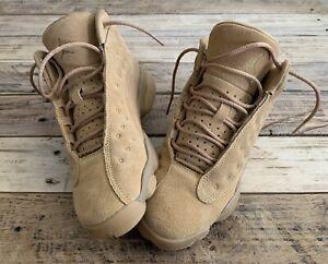Nike Air Jordan Retro 13 XIII Size 5Y Boys Tan Wheat Brown Haystack 414571-705