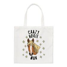 Crazy Horse hombre estrellas Small Tote Bag-animales graciosos Pony Hombro