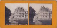 Château Da Fontainebleau Foto Stereo Stereoview Vintage Analogica