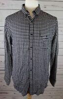 NEW Kenneth Cole Reaction Men's Check Flannel Shirt Black Combo Med MSRP $69.50