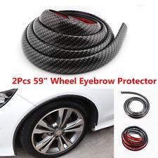 2Pcs 150CM Carbon Fibre Look Car Fender Flares Extension Wheel Eyebrow Protector