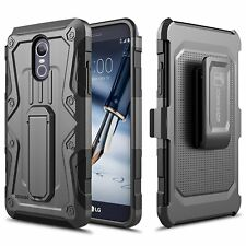 LG Stylo 3 / LG Stylo 3 Plus Case, Impact Armor Kickstand with Belt Clip
