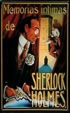 Memorias de Sherlock Holmes Tin Sign 3D Embossed Arched 7 7/8x11 13/16in