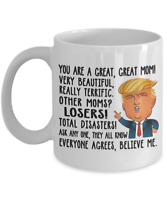 Funny Donald Trump Great Mom Coffee Mug Mommy Gift For Mother's Day Cup Mama