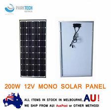 12V 200W Solar Panel Kit Home Generator Caravan Camping Power Mono Charging