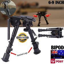 """Rifle Bipod 6""""-9"""" Height Quick Deploy Shooting Gun Firearm Hunting QD Mount BLK"""