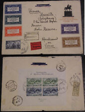 "Pologne Bloc 1938  Enveloppe FDC  Varsovie  France "" first day cover""  WARSAW"
