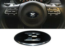 3D E Steering Wheel Horn Cap Emblem Nameplate Badge (Fits: KIA 2018+ Stinger)