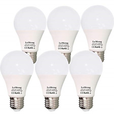 12V LED Light Bulb 7W 630Lm AC/DC 12 Volt Low Voltage E26 ,2700K warm white 6 Pk